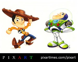 Woody and Buzz by Amy Mebberson