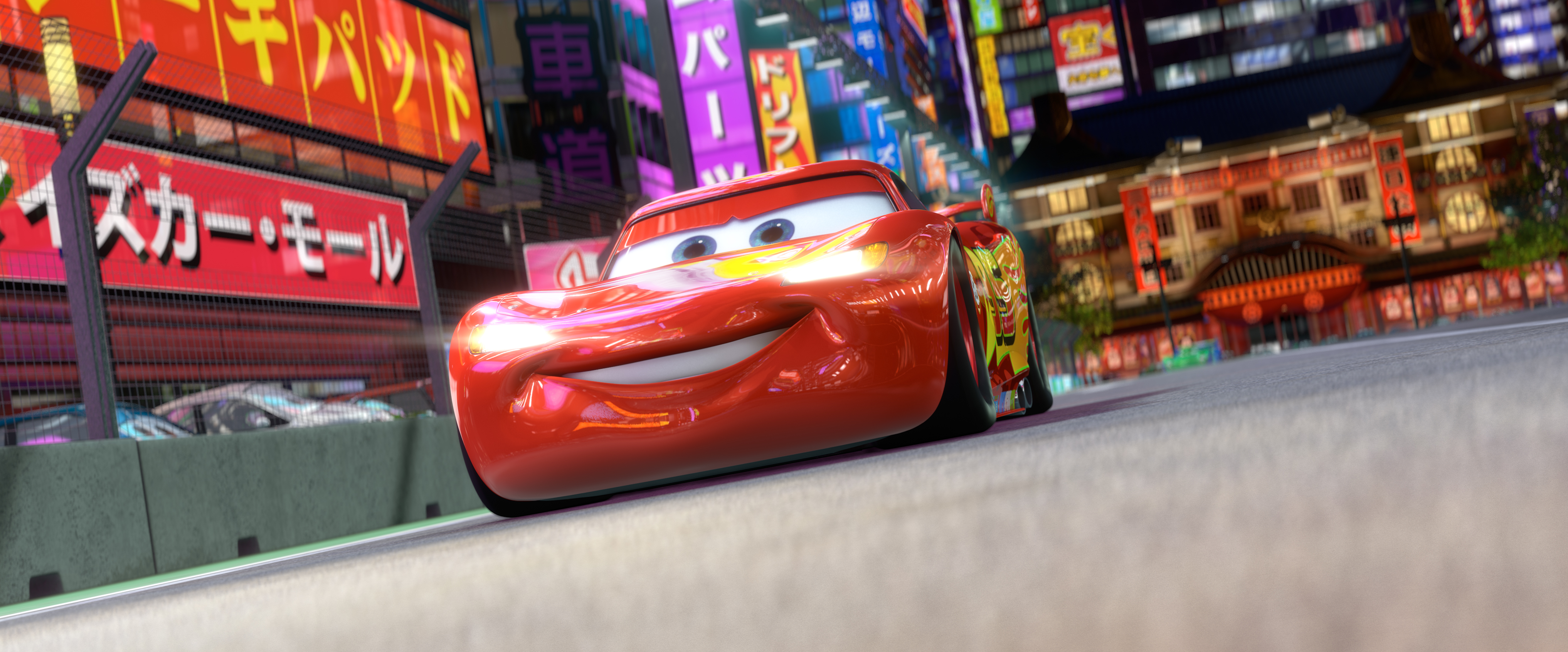 Cars 2 Clips – Japan Night Racing and Wasabi