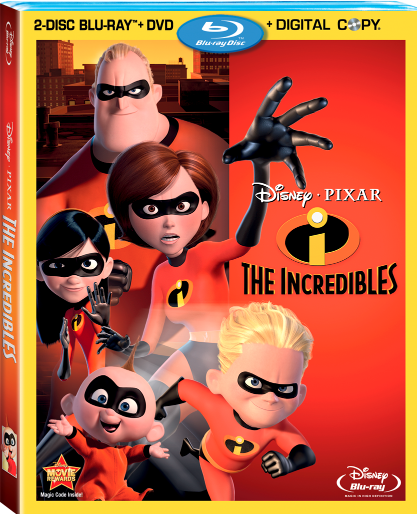 The Incredibles 4-Disc Blu-ray Combo Pack Press Release