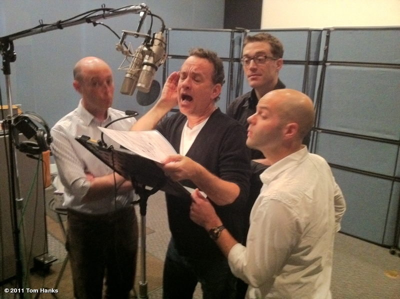 Image: Tom Hanks Doing Voicework For Toy Story Shorts