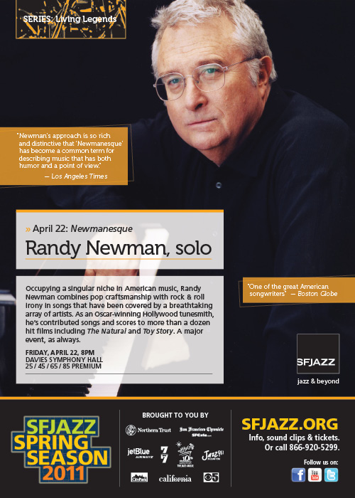 Contest: Win Tickets To See Randy Newman Live In San Francisco! [Closed]