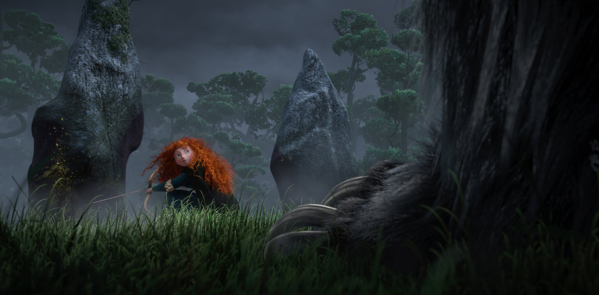 New Brave Image Features The Bear, Merida, And The Bow