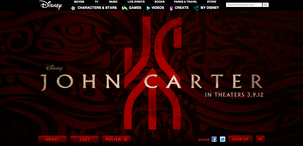 John Carter Website Launches, Teaser Attached To Harry Potter
