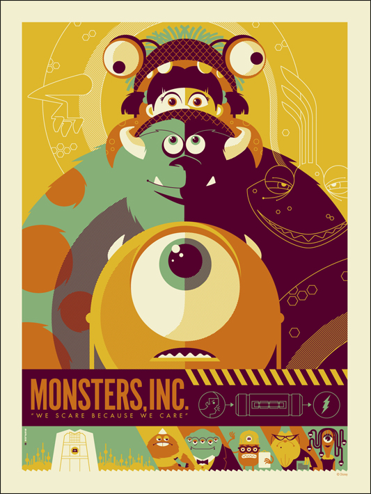 Mondo Launches Pixar Posters, Starting With Monsters, Inc.