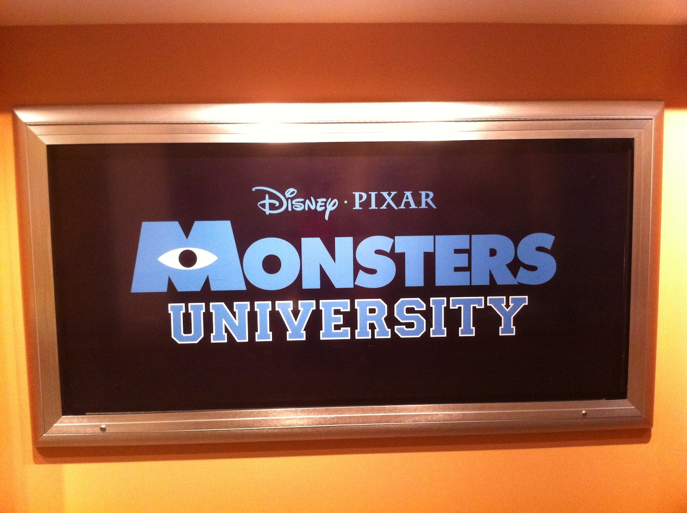 'Monsters University' Poster Goes Up At Disney World