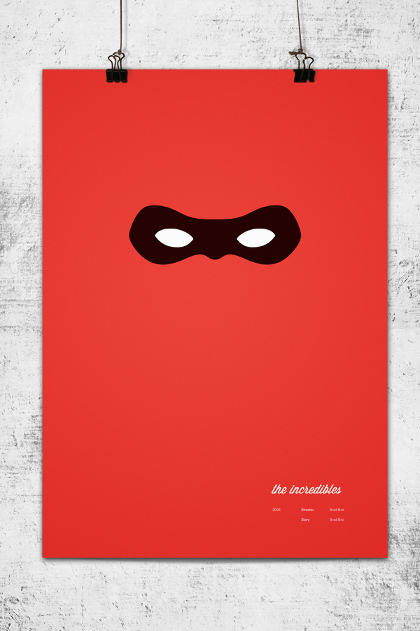 Awesome: Minimalist Pixar Posters Exude Character