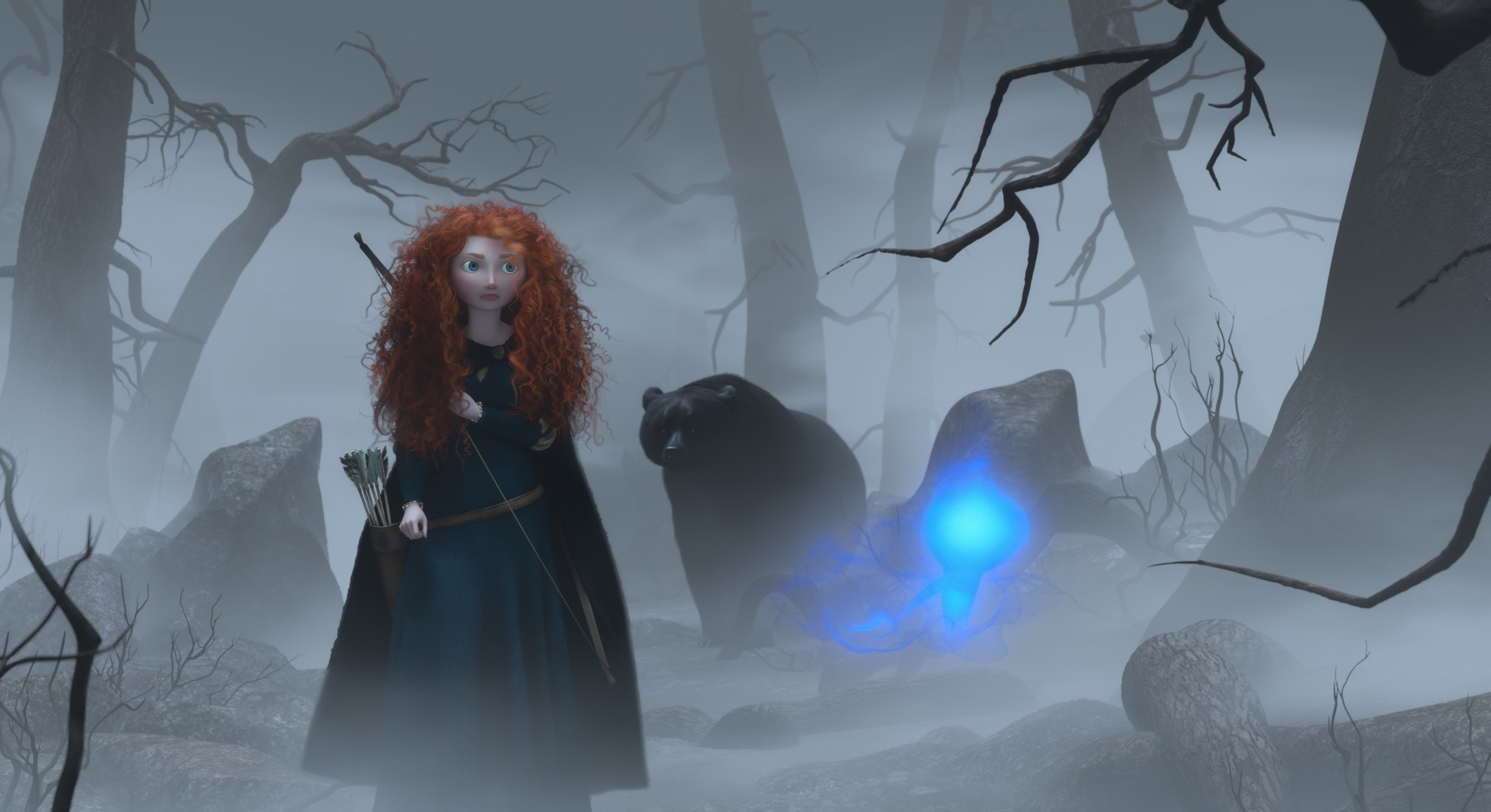 New 'Brave' Stills Feature The Bear, Swords, And Mischief