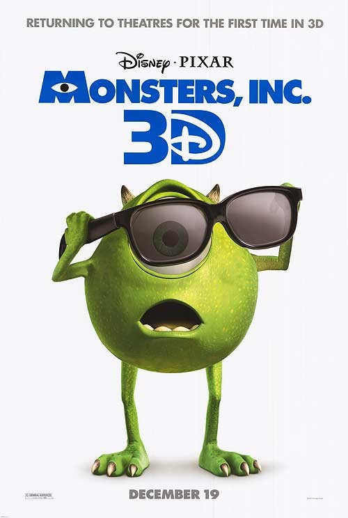 Sneak Peek: 'Monsters, Inc. 3D' Theatrical Poster