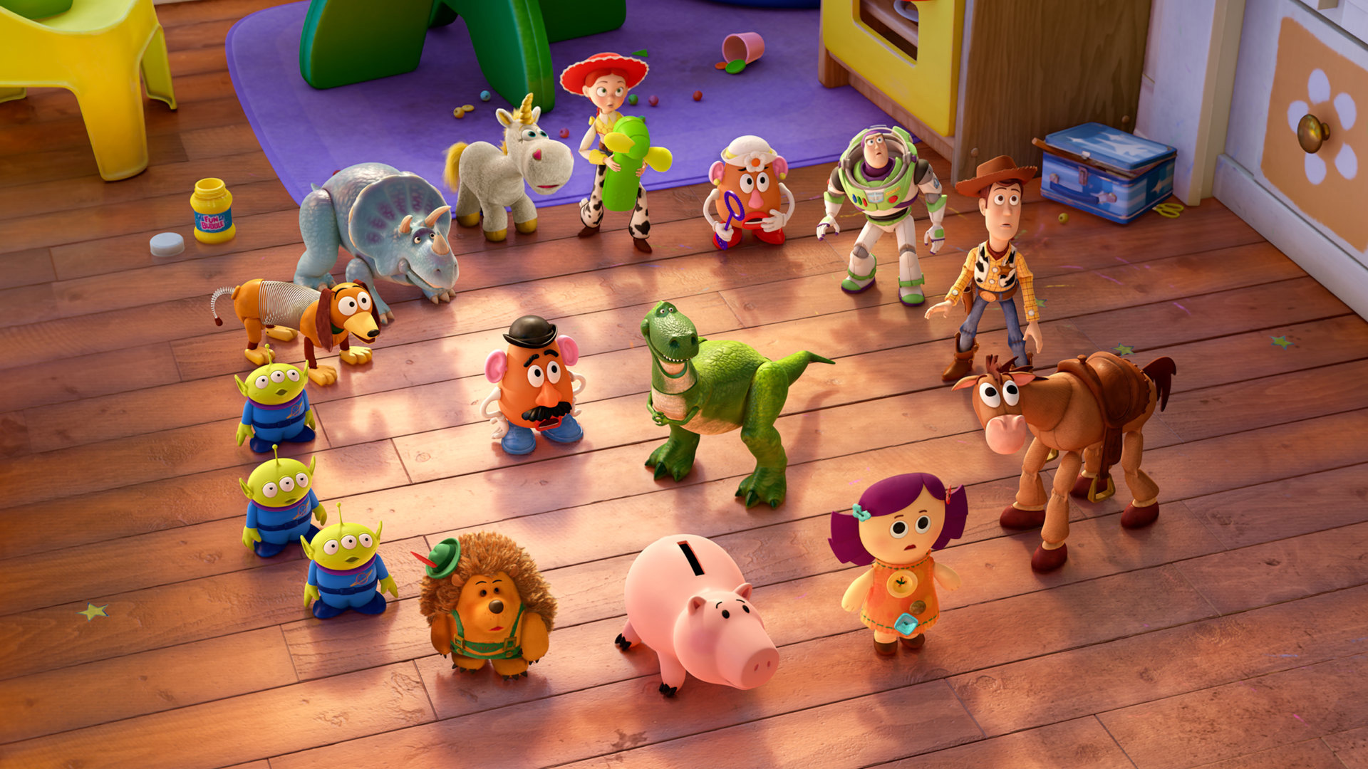 New 'Toy Story Partysaurus Rex' Images Contrast New Toys With The Old