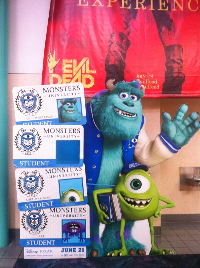 Clever 'Monsters University' Standees Arrive In Theaters
