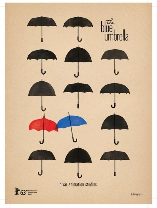 Fantastic Design For 'The Blue Umbrella' Poster