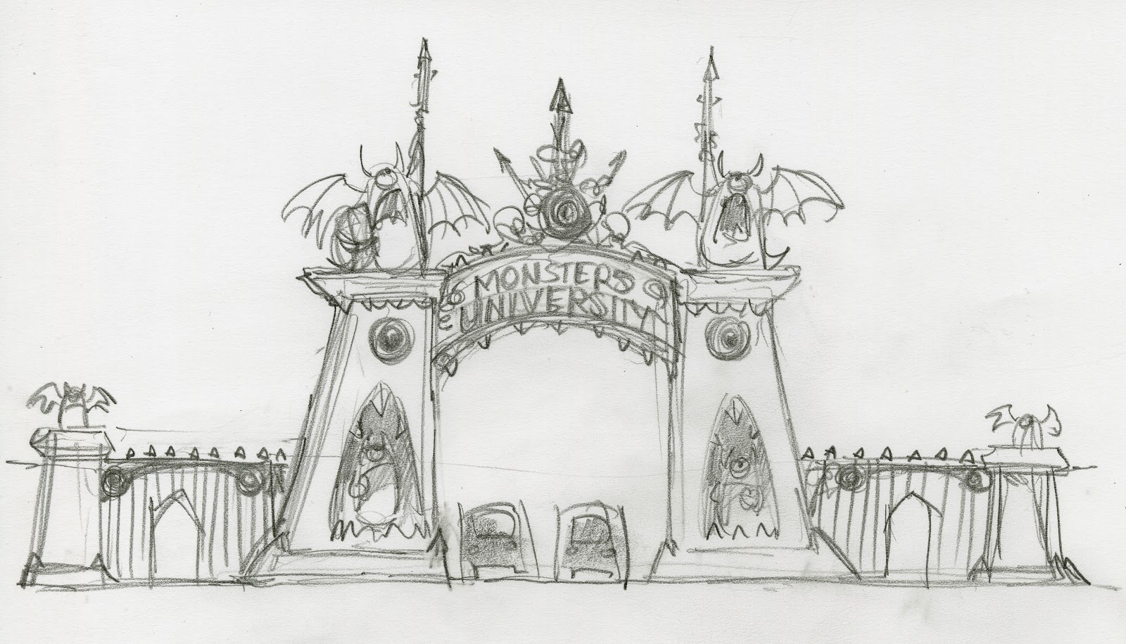 Gorgeous 'Monsters University' Concept Art Showcases Beautiful School Campus