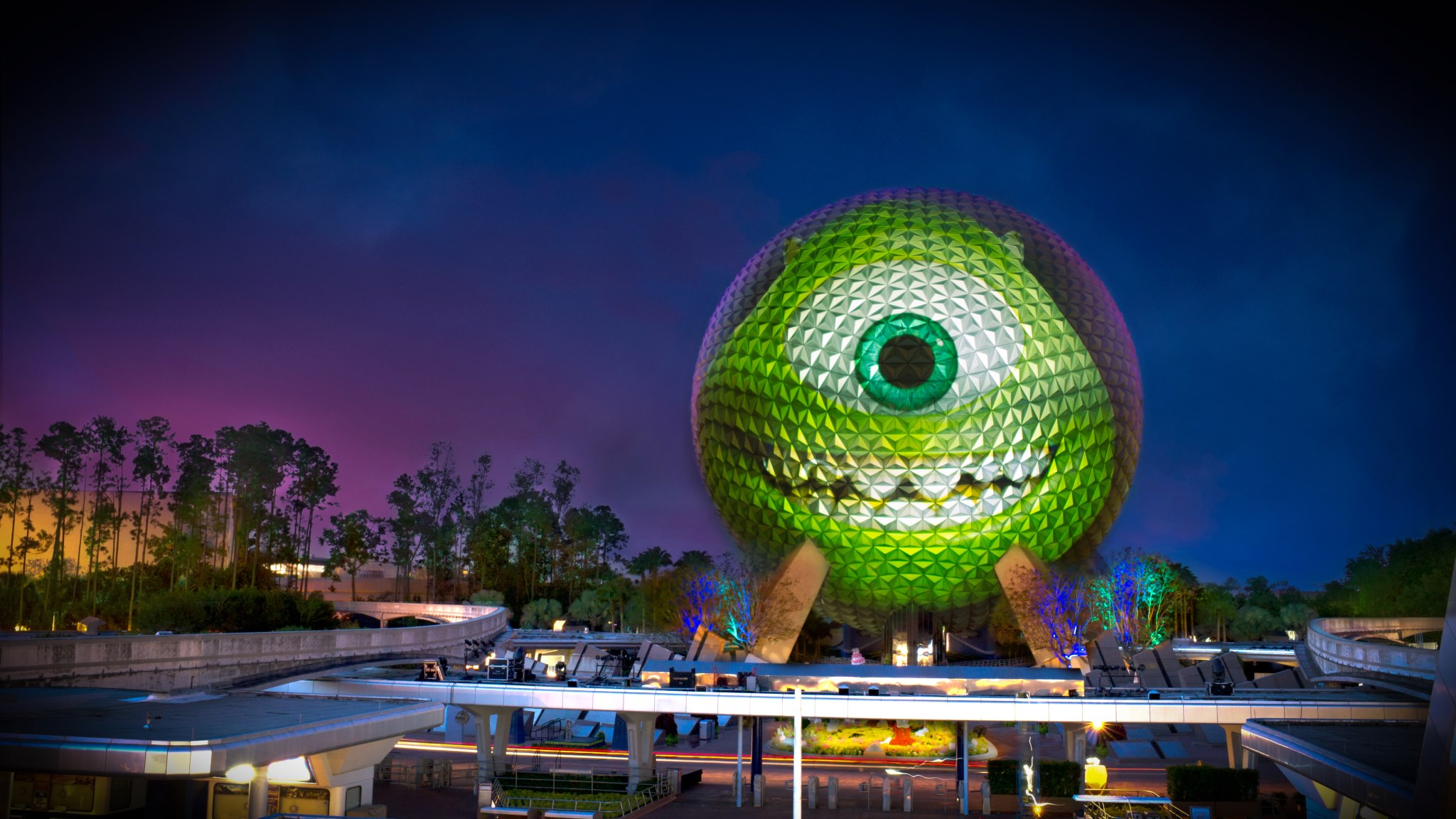 Pixar Collaborated With Disney Parks Team To Transform Spaceship Earth Into Massive Mike Wazowski