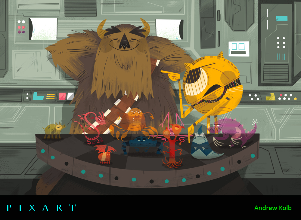 PixArt: Monsters Mash-Up Round 1 Mixes With The Worlds of Star Wars, Lord of the Rings, Beauty and the Beast, More