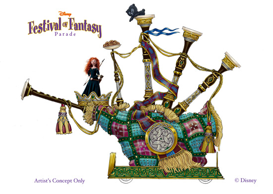 First Look: New Magic Kingdom Parade To Feature 'Brave' Float