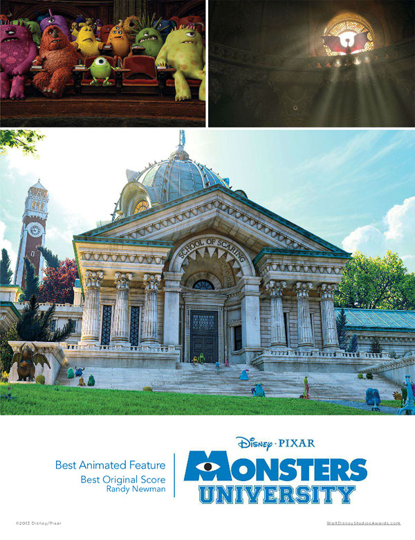 Disney/Pixar Pushes 'Monsters University' For Awards Consideration In Poster Ad