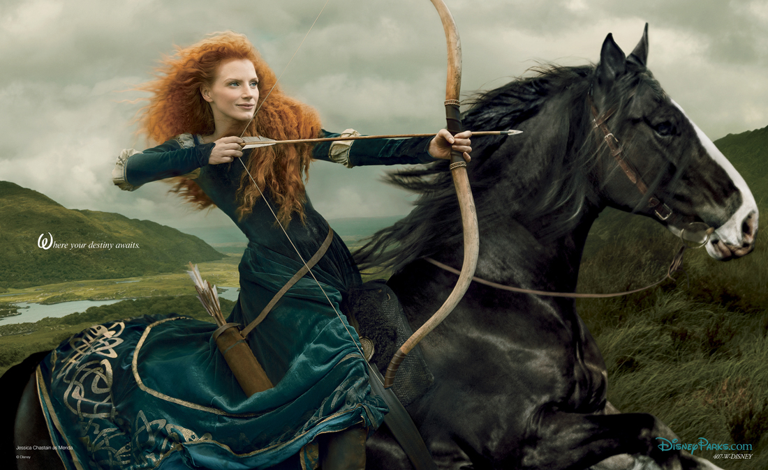See Jessica Chastain As Merida In Stunning New Photo (Updated With Video)