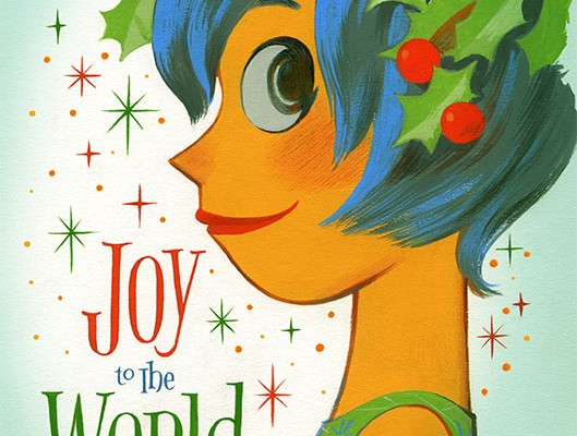 See Pixar's 'Inside Out' Holiday Card Come To Life