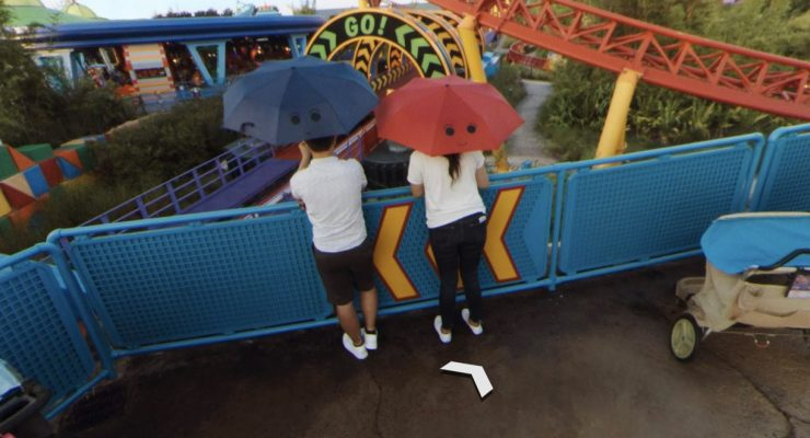 There Are Pixar Easter Eggs Hidden In Toy Story Land's Google Street View Images